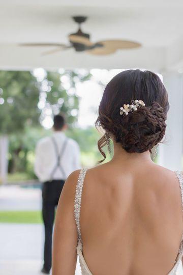 Brides' hairstyle