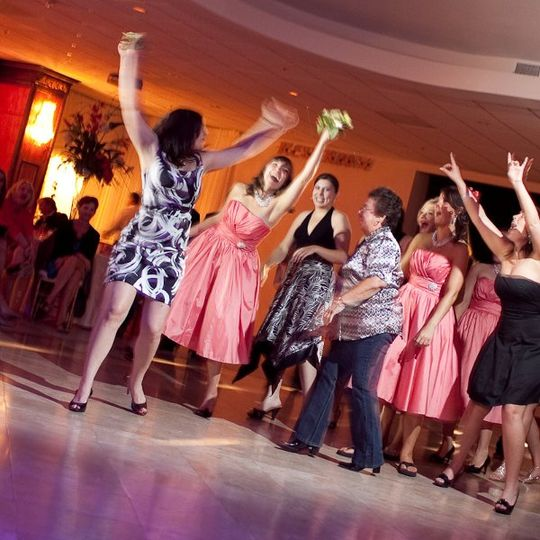 Bouquet toss - and catch