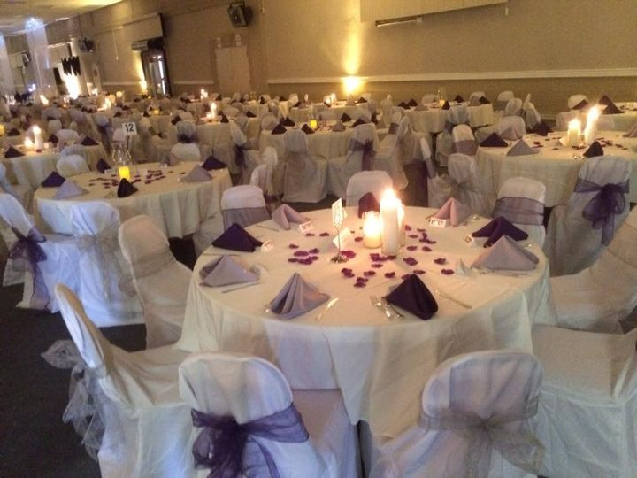 Table setup for reception