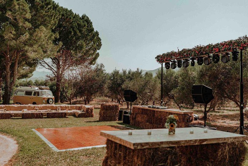 Roustique wedding party