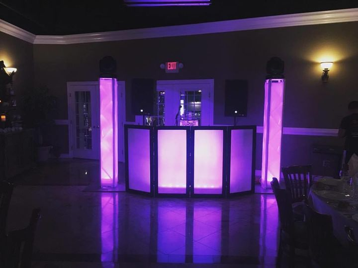 DJ station and lighting