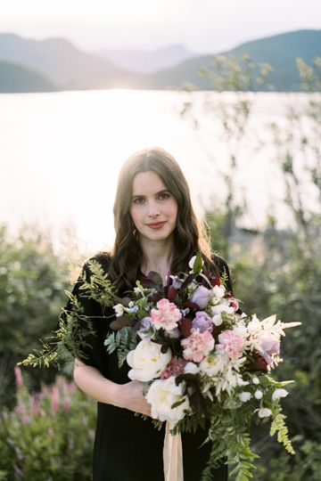 Bouquet by the lake - Emma Rae Visions