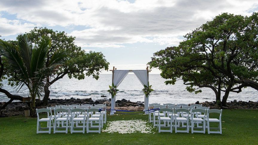 Ceremony by the ocean