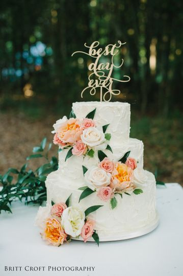 Savannahs Hall of Cakes Wedding Cake Rincon GA WeddingWire