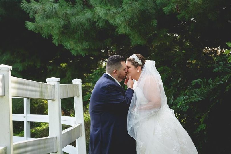 Bride and Groom Kiss