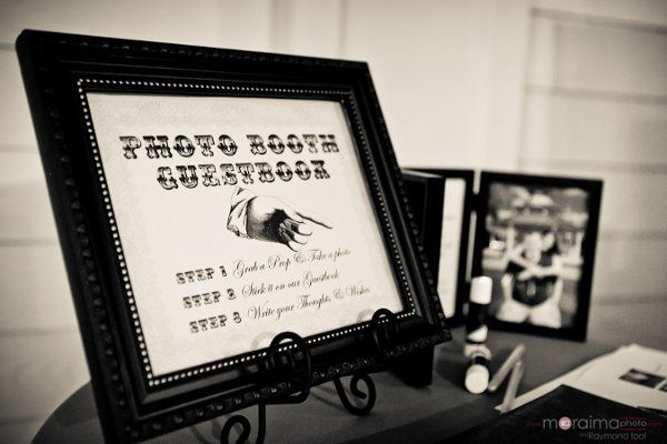 Our vintage scrapbook sign you can include as an add on at Leu Gardens in Orlando, Florida