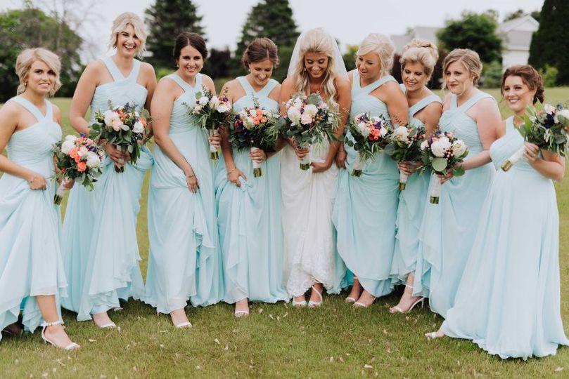 Pastel blue dresses