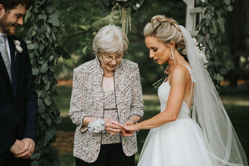 Admiring a ring