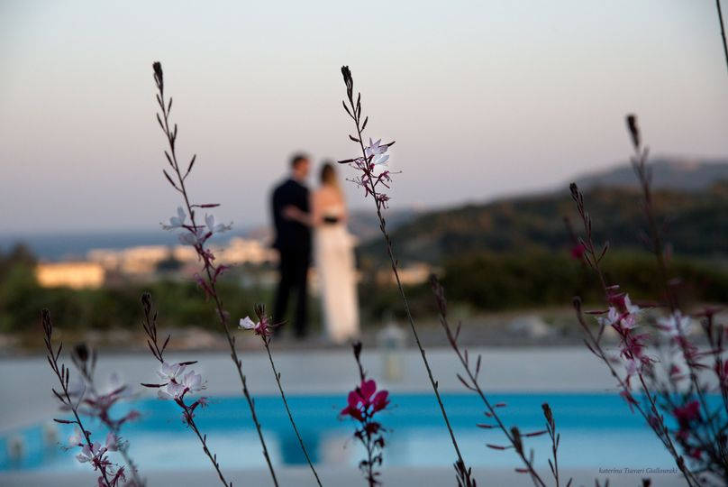 Villa wedding with a view