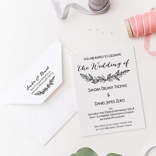 Formal Laurel Wedding Invite