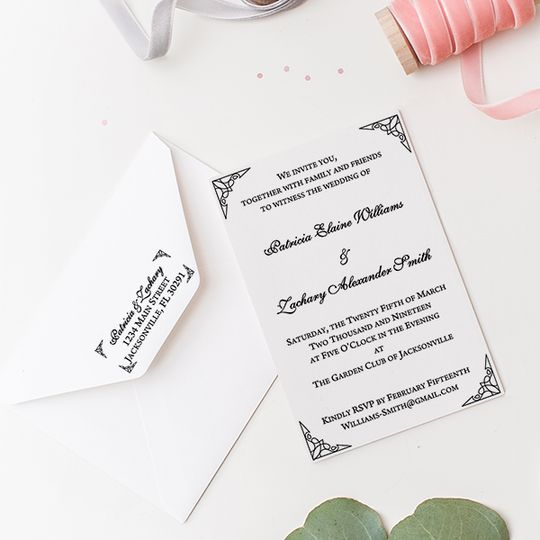 Formal ornate invitation