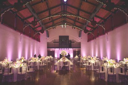 Pink reception lighting