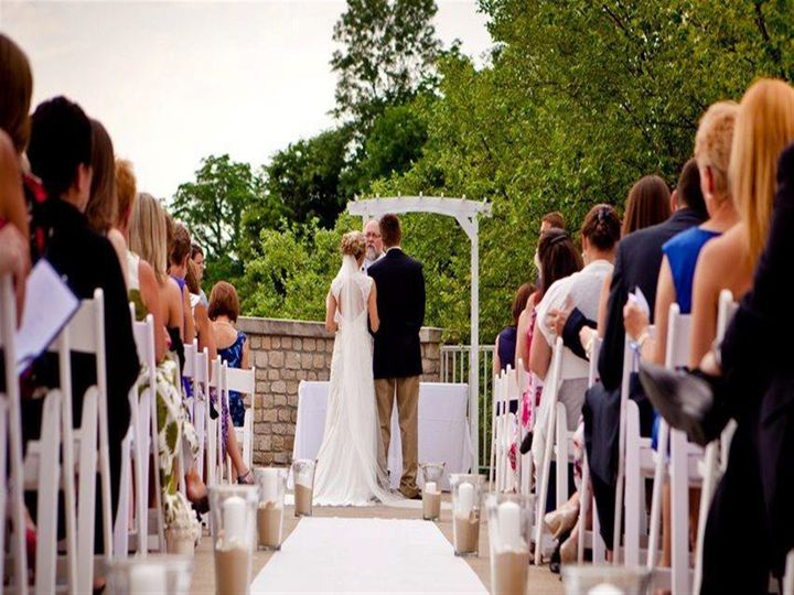 Outdoor at the Hawthorns for a wedding ceremony