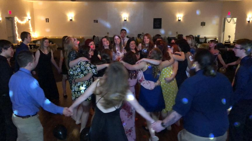 All your friends and family having a great time at your reception!