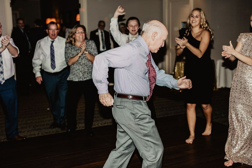"""The Bride's Dad showing everyone the """"Old School"""" way to get down!"""