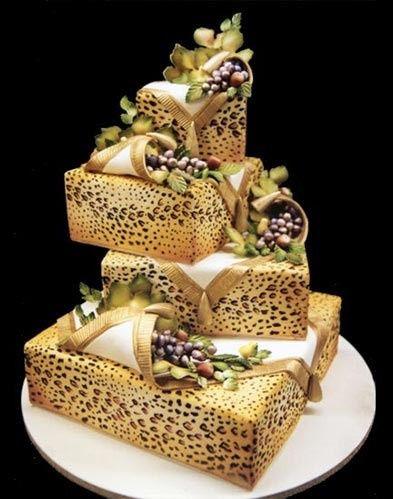 Cheetah print cake