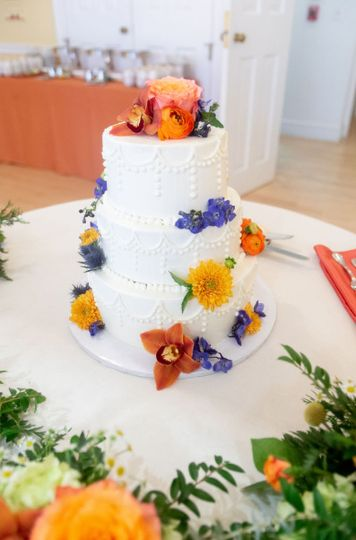 Cake with fresh florals