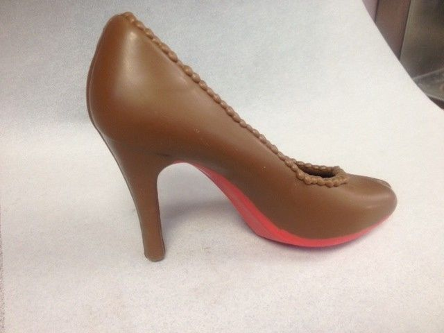 red sole shoe