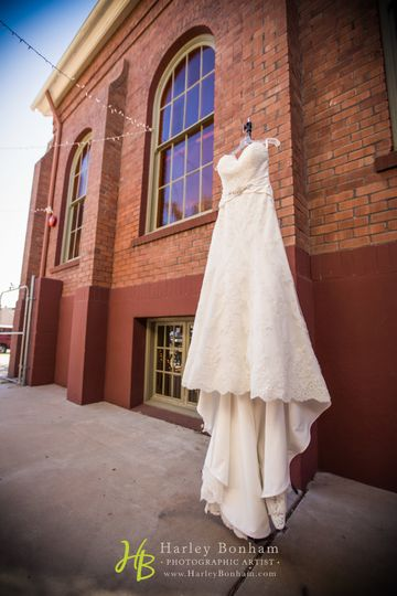 Wedding gown downtown