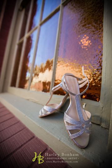 The bride's shoes
