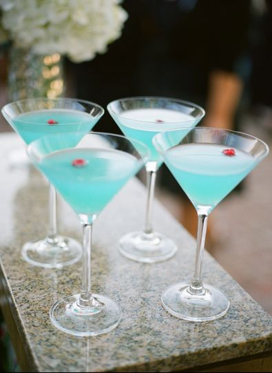 Tiffany blue mocktails