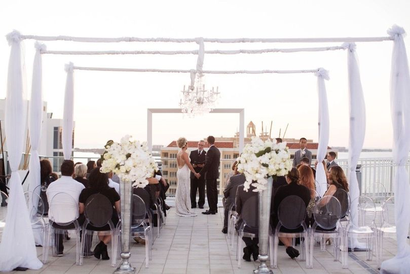 The roof top wedding