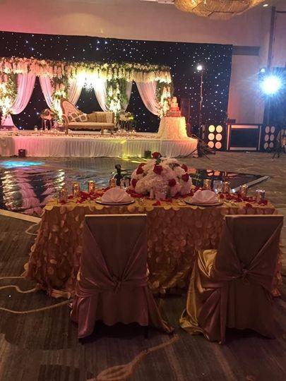 Wedding custom dance floor