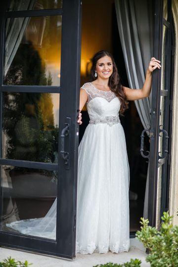 The bride by the door