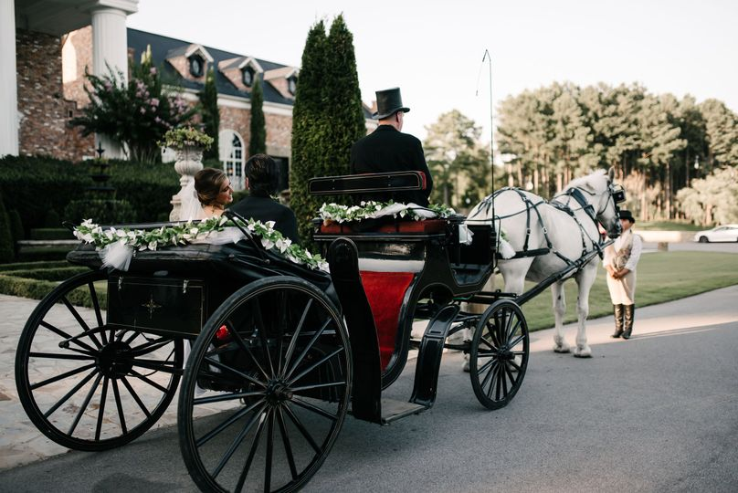 Classic horse and carriage ride