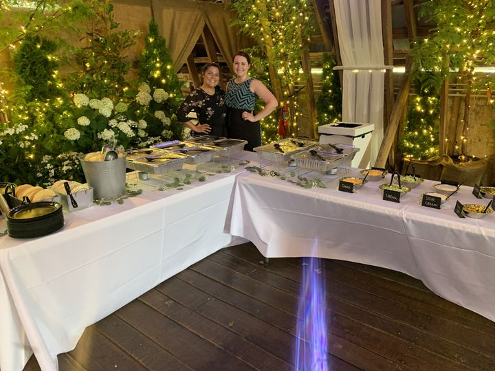 Rustic and romantic catering display