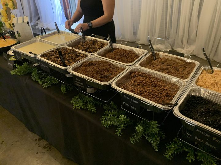 Delicious Mexican buffet