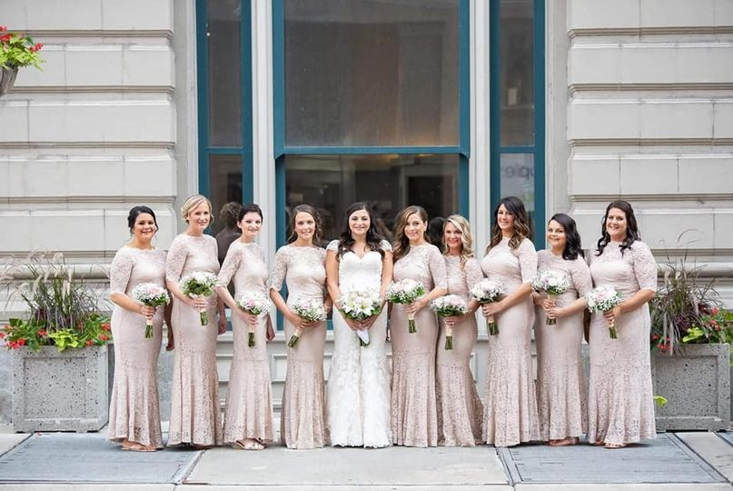 Beautiful bridal party