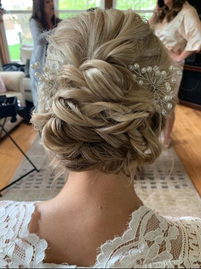 Soft and sweet updo