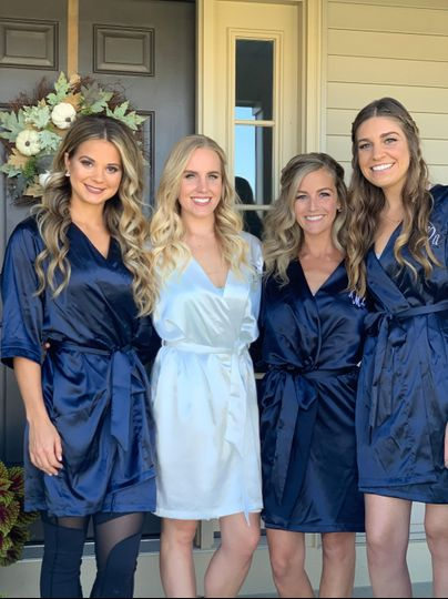 Just a bride and her maids