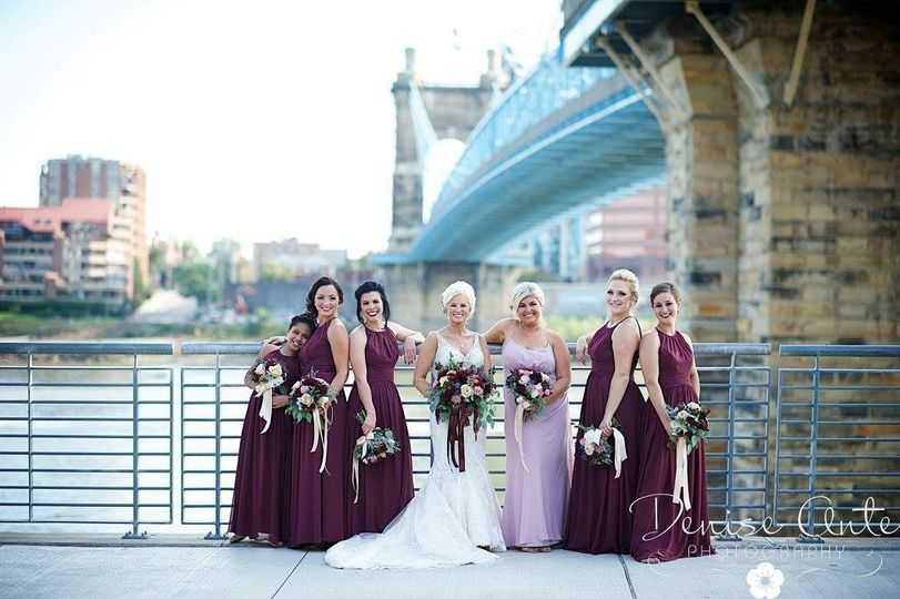 Burgandy bouquets