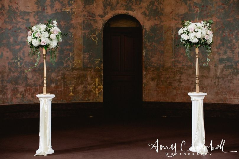 Long flowers in entryway
