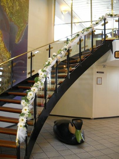 Stairway aboard the mv twin capes - what a great entrance for a reception!