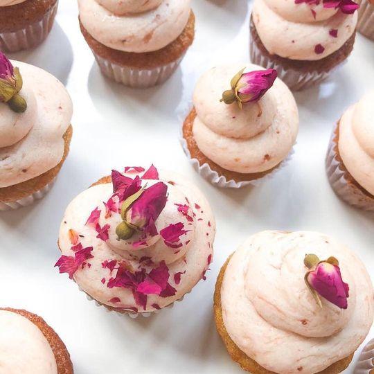 Rose Petal Paleo Cupcakes