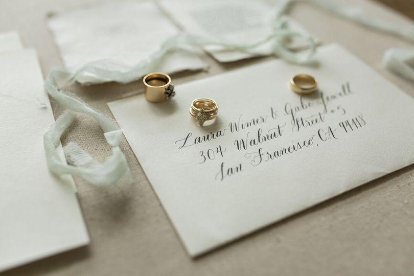 Seattle wedding calligraphy