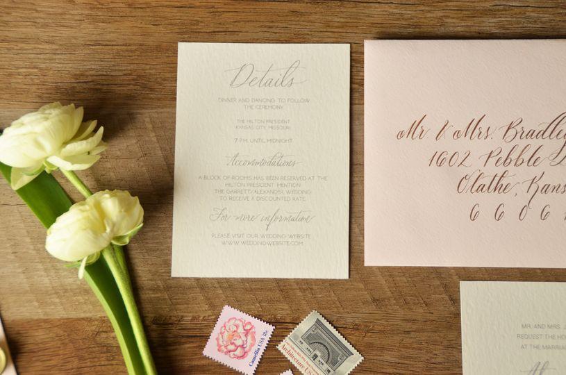 Blue pink envelopes