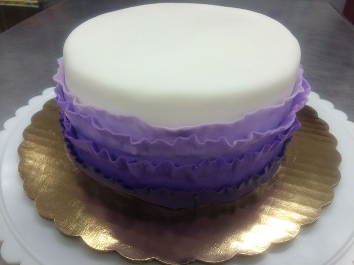 Western Theme, 2-tiered square cakes, rolled fondant