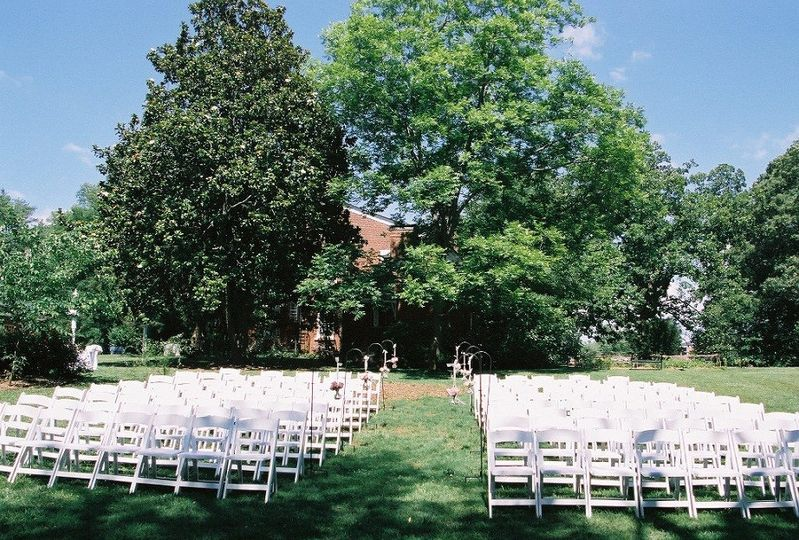 The Gardens At Great Oaks Wedding Ceremony Reception