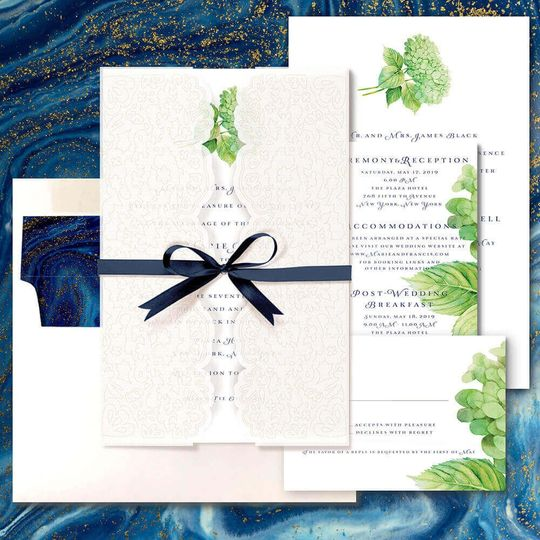 Hydrangea suite with Lace & Ribbon