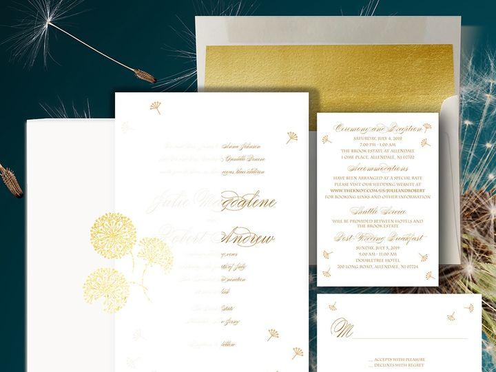 Tmx Duodandelion 51 1874413 157660222859660 Millburn, NJ wedding invitation