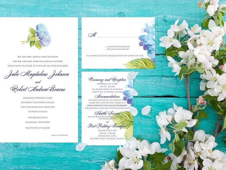 Tmx Hydreandea Blue Website 51 1874413 1567716332 Millburn, NJ wedding invitation
