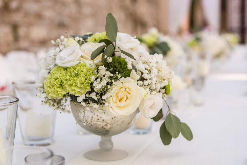 Centerpiece details wedding
