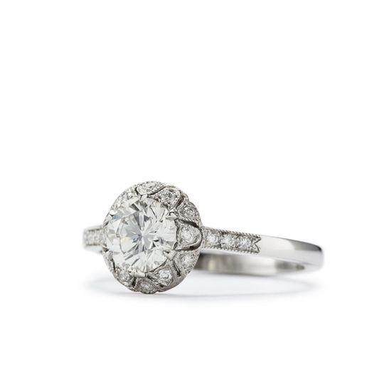 a8fad6d0da71a38d Freesia Antique Style filigree Engagement Ring