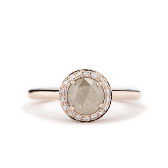bohemian princess rustic diamond ring