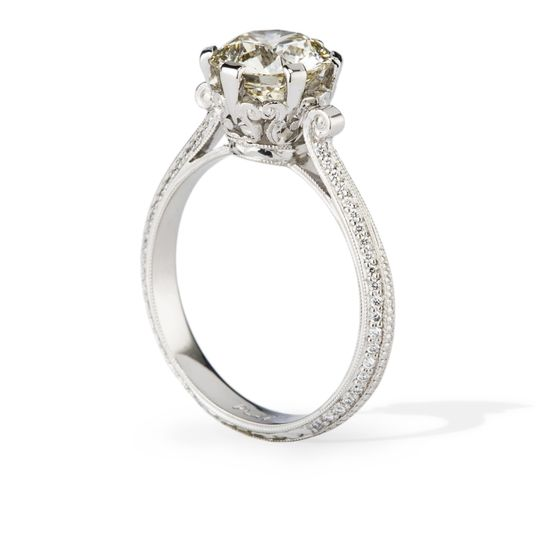 fit for a queen antqiue style engagement ring