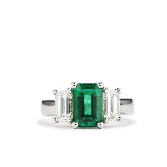 garbo art deco emerald ring
